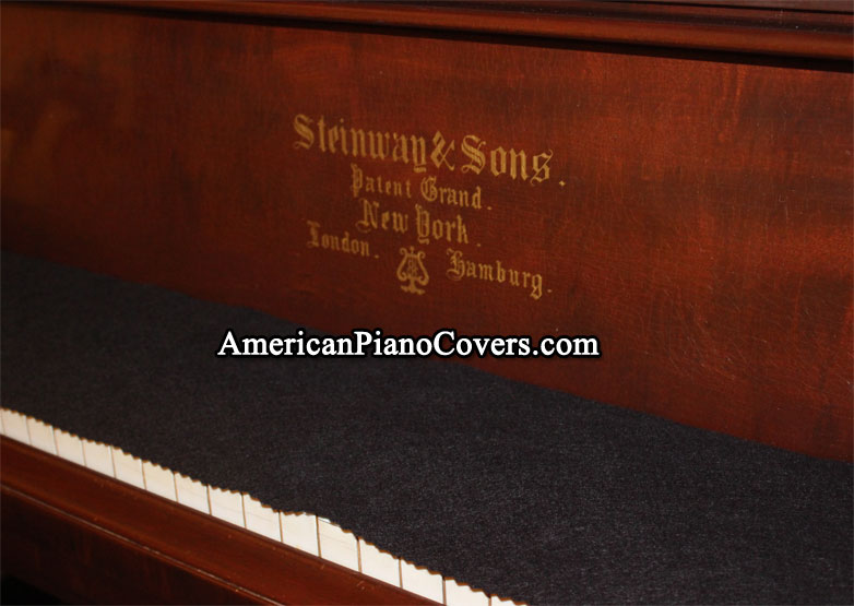 black felt piano key cover