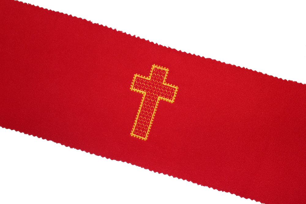 church cross keyboard key cover