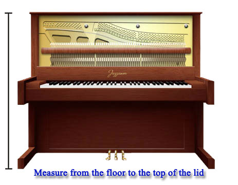 how to measure an upright piano