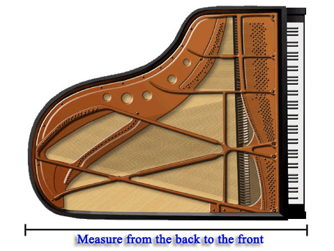How to measure your piano for What are the dimensions of a baby grand piano