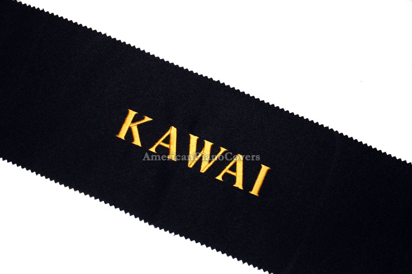 black kawai piano key cover