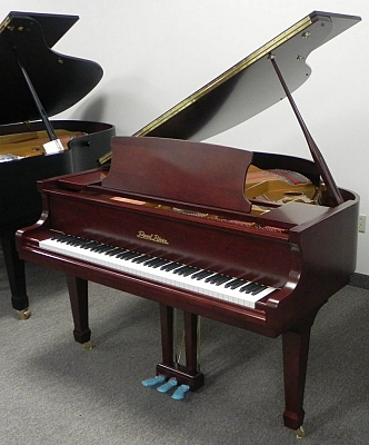 pearl river mahogany grand piano