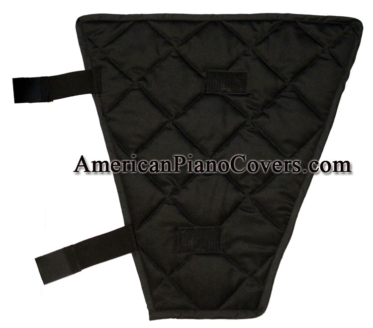 piano leg wrap black quilted