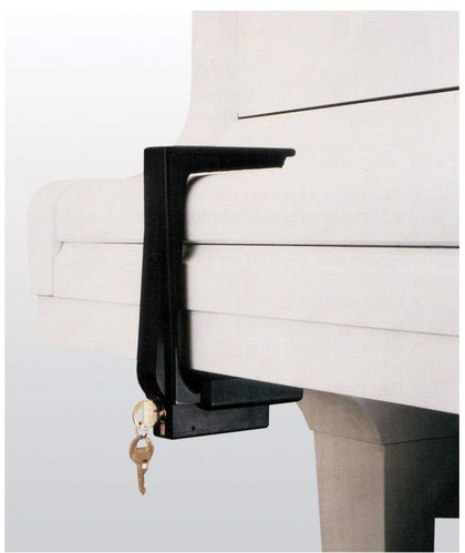 black felt lined grand piano lock