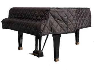 grand piano cover black quilted