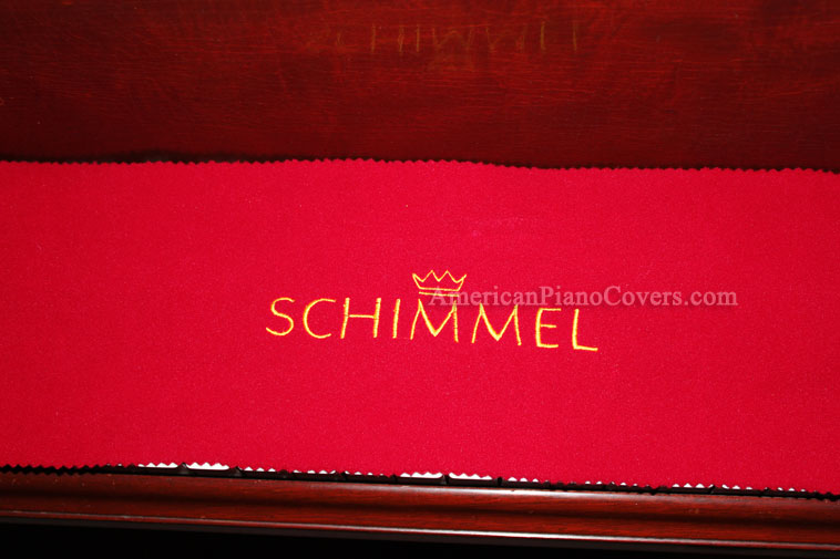red felt schimmel key cover